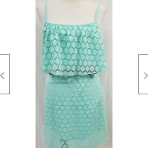 "NEW - No Boundaries Junior's Teal Dress -34"" Chest"